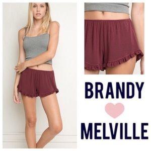 Burgundy vodi shorts